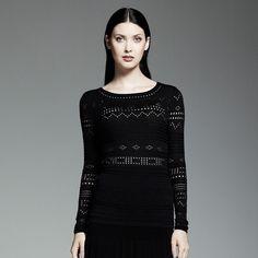 Catherine Malandrino for DesigNation Pointelle Sweater by None, via Polyvore