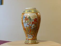 Chinese Moriage 9-inch Vase by RandysGallery on Etsy