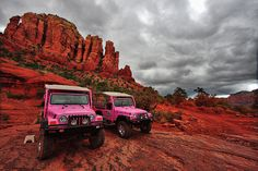 pink jeep