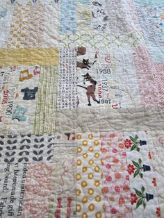 Wonderful fabrics on low volume quilt