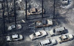 Image: An aerial view of burned vehicles in the aftermath of the Black Forest Fire in Colorado on June 13 (© Rick Wilking / Reuters) Story Inspiration, Writing Inspiration, Character Inspiration, Fallout, Karma, Detroit, The 5th Wave, Neutral, Prince