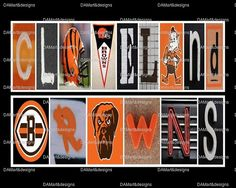 NFL Cleveland Browns Framed Alphabet Photo Art by DAMartndesigns, $35.00