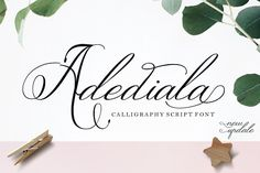 Adediala Script by Areatype on @creativemarket  Adediala Script is a lovely calligraphic manuscript modern font perfect for your elegant for wedding. Can be used for invitations, placecards, or signs.  #affiliate #elegantwedding #formalwedding