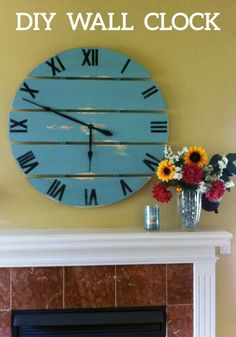 Create this beautiful DIY Large Wall Clock to spruce up your home this spring. This statement piece will show off your bold sense of style.