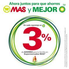 En mayo, tenemos una nueva promoción de ahorro para la familia!   Cada vez que eches carburante en una gasolinera BP de la provincia de Sevilla, sumarás en tu Tarjeta Club MAS el 3% del importe! Podrás acumularlo hasta el 30 de junio, y empezar a utilizarlo en julio!  Aquí tenéis toda la info: http://www.masybp.com/