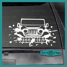 perfect for jeep lovers!!! jeep wave decal for window or back of side mirror