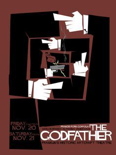 Saul Bass - The Godfather - Movie Poster