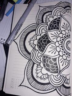 BE NICE ♓ Mandala Art Lesson, Mandala Artwork, Mandala Painting, Painting & Drawing, Henna Drawings, Doodle Drawings, Doodle Art, Dibujos Zentangle Art, Mandalas Drawing