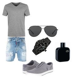 """""""Bez naslova #13"""" by fatima-bojic ❤ liked on Polyvore featuring Dsquared2, Topman, Neff, Michael Kors, Lacoste, men's fashion and menswear"""
