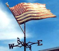 American flag weather vane