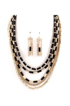 Erin Necklace in Jet on Emma Stine Limited