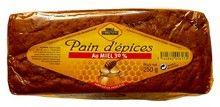 VILLENEUVE PAIN D'EPICES $6.90 This sliced pain d'épices is perfect for breakfast or afternoon snacks. Sometimes loosely translated as gingerbread, pain d'épices actually contains no ginger. The main ingredients of the recipe, which dates back to the Middle Ages, are sugar, rye flour, honey and spices.  Miels Villeneuve was founded in 1936 by an apiculturist family. The company produces a broad variety of honeys and honey-based foods.    250 grams / 8.8 oz French Cookies, Rye Flour, French Food, Afternoon Snacks, Beignets, Base Foods, Grocery Store, Spices, Burgundy