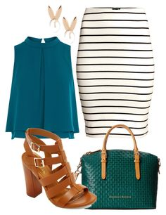"""""""Untitled #1145"""" by social-outcast-16 on Polyvore featuring H&M, Coast, Dooney & Bourke, Bamboo and Aamaya by priyanka"""