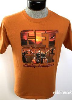 Harley-Davidson Men's M T-Shirt Get Gone Balas H-D Mauston WI Dice Playing Card  #HarleyDavidson #GraphicTee #wisconsin