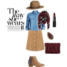 Suede by gabriela-kiteva on Polyvore featuring Jack & Jones, Miss Selfridge, HOWSTY, The Cambridge Satchel Company, Samantha Wills, H&M and NARS Cosmetics