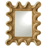 "26/20"" Baroque Gold Leaf Mirror * Click Image For Full Screen View"
