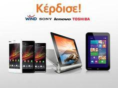 Διαγωνισμός του Public με δώρα Sony smartphones (Xperia L, M, SP), tablets Lenovo Yoga και Toshiba Encore. Και πακέτα WIND με 1.000 λεπτά ομιλίας προς όλους για ένα χρόνο,http://www.diagonismoidwra.gr/?p=10377