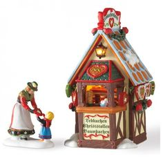 Alpine Village - Christmas Market, The Gingerbread Booth // Department56corner.com