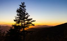 A beautiful sunset from the Clingman's Dome overlook