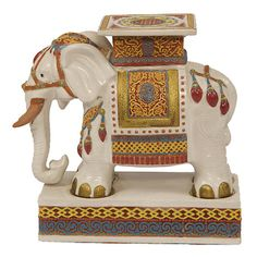 Superieur Vintage Fifty Year Old Indian Ceramic Garden Stool. Product:  StoolConstruction Material: Ceramic C..