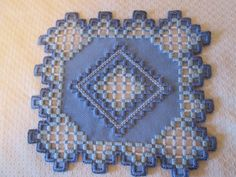 HARDANGER Doily Norwegian Embroidery Cut Work Blues - CAD $33.40. Hardanger doily Done on 22 ct blue fabric -- with 2 shades of blue and white stitching -- Size 6-1/4 x 6-3/4 inches Made by me. 192444270287