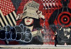 Shepard Fairey mural on Bowery & Houston, NYC