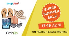 Upto 70% OFF on Electronics, Home & Fashion. Shop Now! Offer ends soon!  #DilKiDeal#SuperSummerSale #GrabOn