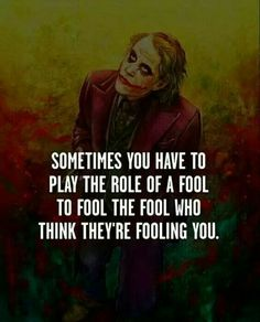 Fooling is the key to success!