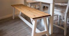 Noen planker, en sag, et par skruer og en ettermiddag er alt du trenger for lage din helt egen benk.