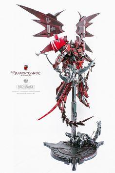 Custom Build: MG 1/100 Red Snake's Zeta Gundam [Blood Reaper] - Gundam Kits Collection News and Reviews