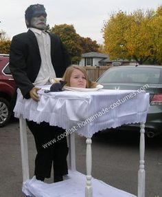 Head on Platter Optical Illusion Costume