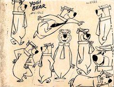 Model sheet of Yogi Bear