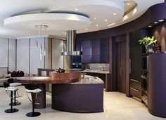 purple and black kitchen   Purple Kitchen Designs, Pictures and Inspiration
