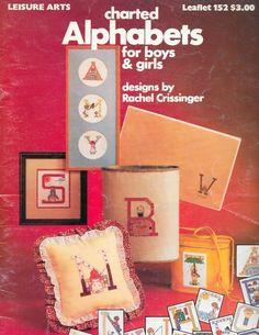 Leisure Arts Charted Alphabets, Cross Stitch, 1979