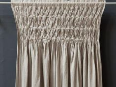 Luxe Smocked Linen Curtains     Green Bride Guide
