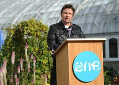 """[Jamie] Oliver flew in to congratulate Pittsburgh as the first city in America to commit to a 12-month Food Revolution program to improve food in schools, homes, businesses and city government."""