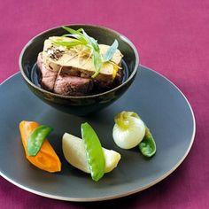 Filet de bœuf à la ficelle et au foie gras de Thierry Breton, chef de chez Michel, 10, rue de Belzunce, 75010 Paris, 01 44 53 06 20