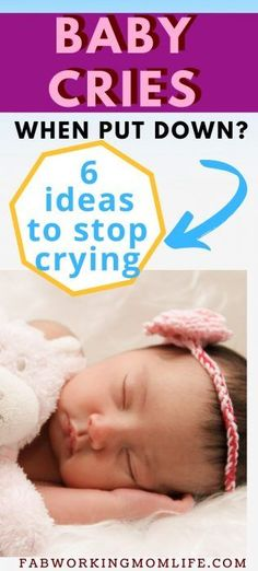 Do you know How to stop a child from crying all the time? Read this mom advice on how to Prevent Crying When Baby is Put Down | Fab Working Mom Life #parenting #baby #motherhood Newborn Baby Tips, Newborn Care, Newborn Babies, Infant Care, Colic Baby, Baby Hacks, Mom Hacks, Working Mom Tips, Baby Schedule