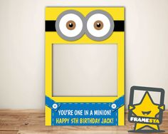 Minion Party Photo Booth Prop Digital File Only Minion