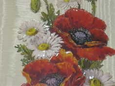 Vintage Paper Art - Flower Art - Flower Shadowbox - Floral Paper Art- 3-D  Wall Decor by FremarsTreasures on Etsy