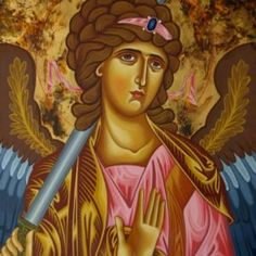 Archangel Michael by Lydia Gourioti Orthodox Christianity, Archangel Michael, Son Of God, Christian Faith, Jesus Christ, Princess Zelda, Fictional Characters, Art, Icons