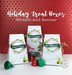 The Perfect Party Favor for your Holiday Parties! Treat Boxes Full of Sweet Treats - Christmas treat box, Hershey Kisses, Co-Worker Treats, Employee Christmas gift ideas, Classroom Trea - Christmas Candy Crafts, Merry Christmas, Neighbor Christmas Gifts, Christmas Banners, Christmas Party Decorations, Christmas Treats, Holiday Treats, Christmas Place, Holiday Parties