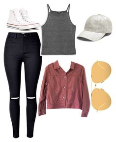"""""""Untitled #44"""" by katelymnsimon on Polyvore featuring Monki, J.Jill, Converse, Madewell and Linda Farrow"""