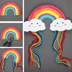 Crafts To Do, Diy Crafts For Kids, Projects For Kids, Arts And Crafts, Rainbow Crafts, Rainbow Art, Preschool Crafts, Easter Crafts, Educational Crafts