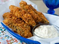 Fried (or baked) Panco Dipped Pickle Spears http://www.bettycrocker.com/recipes/fried-panko-dipped-pickle-spears/32b93925-a208-43c2-97a8-3e19049e08e4