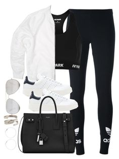 """Untitled #3690"" by theaverageauburn on Polyvore featuring adidas Originals, Topshop, Yves Saint Laurent and Sunny Rebel"