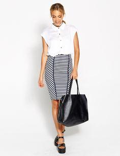 Comic Stripe Tube Skirt from @ dotti @westfieldnz #backtowork
