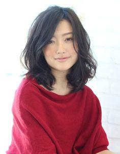 黒髪パーマ(WA-112)   ヘアカタログ・髪型・ヘアスタイル AFLOAT(アフロート)表参道・銀座・名古屋の美容室・美容院