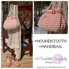 Houndstooth handbag from Crocheted Simplicity...this could be a fun project to take my skills to a new level. :D