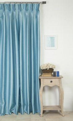 'WESTON TAHITI BLUE' MADE TO MEASURE DRAPES $46.00   https://www.spiffyspools.com/collections/custom-silk-curtains-drapes/products/weston-tahiti-blue-curtains